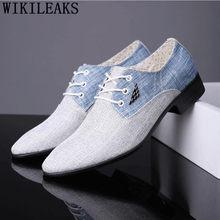 Luxus Marke Klassische Oxford Schuhe Für Männer Verschnaufpause Leinwand Schuhe Männer Formale Hochzeit Herren Kleid Schuhe Herren Schuhe Sepatu Pria