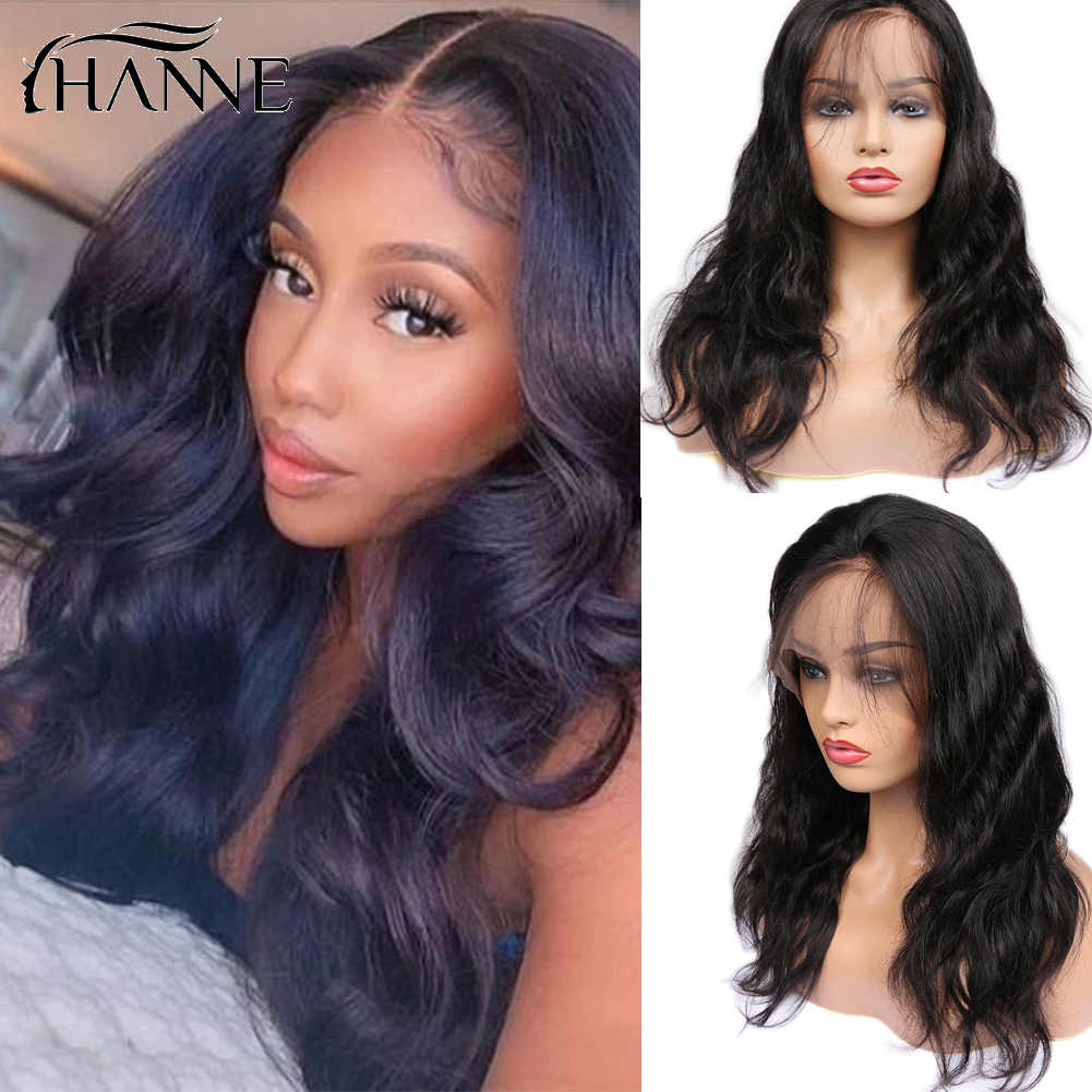 Lace Front Human Hair Wigs Glueless Brazilian Hair Lace Wig Body Wave Wig Perruque Cheveux Humain Hair Wigs ForBlack Women HANNE
