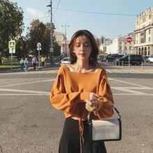 sweter jesień vintage kołnierzyk