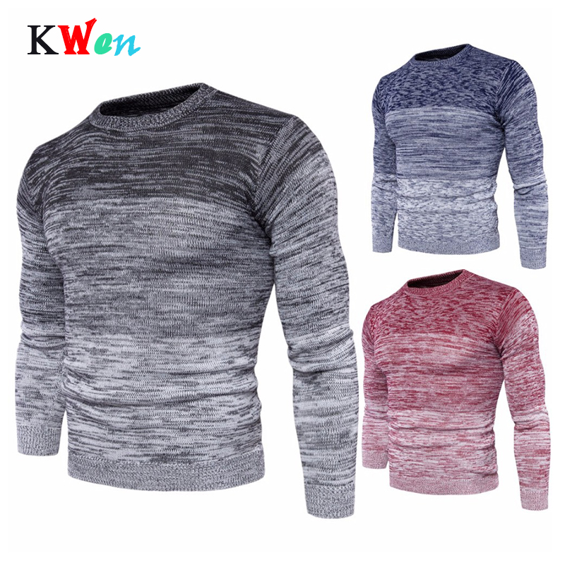 New Men's Round Neck Warm Sweater Plus Size Fashion Men Long Sleeve Pullover Sweater For Male M-3XL Autumn Winter Clothing
