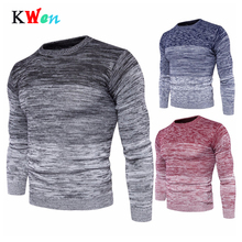 New Mens Round Neck Warm Sweater Plus Size Fashion Men Long Sleeve Pullover For Male M-3XL Autumn Winter Clothing