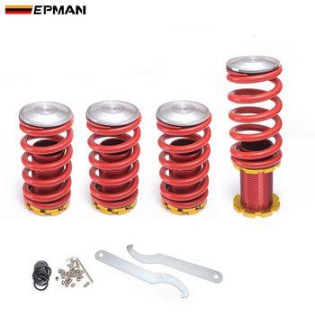 EPMAN высокая производительность Регулируемая высокая низкая Coilover Серебряная понижающая пружина для Honda Civic 02-06 EP-SP0206