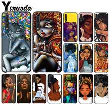 Yinuoda Fashion Afro Girls Melanin Quwenn Black TPU Soft Silicone PhoneCase Cover for Huawei enjoy 7s 8 7 plus 8E 9 9E 9 10 PLUS(China)
