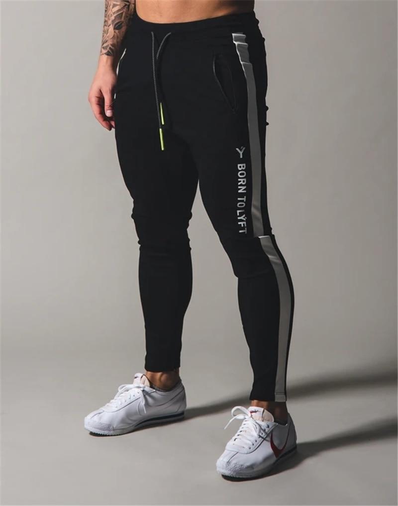 2020 JP&UK Mens Pants GYM Zipper Pocket Sweatpants Cotton Men Fitness Joggers Running Pants Casual Training Trousers Sweatpants