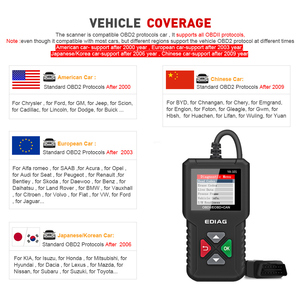 Image 5 - Ediag YA101 OBD2เครื่องมือวินิจฉัยรถยนต์OBDIIเครื่องสแกนเนอร์ตรวจสอบเครื่องยนต์Graphข้อมูลPK ELM327 CR3001 AS100รหัสreader