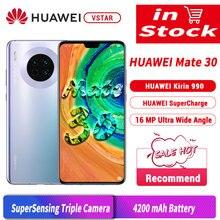 Küresel sürüm orijinal HUAWEI Mate 30 SmartPhone 6.62 Kirin 990 Octa çekirdek 8GB 128GB Android 10 hareket sensörü 40W süper şarj