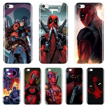 Marvel SuperHero Deadpool Phone Case For Apple iPhone 5 S 5C 5S SE Silicone Soft Back Cover For iPhone 4 S 4S Case(China)