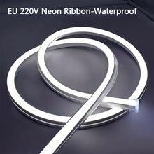 AC 220V Flexible Neon Licht Streifen 2835 120Leds/M Neon Zeichen Im Freien Wasserdichte Neon Band Weiß/warm Weiß Flex Neon Seil Rohr