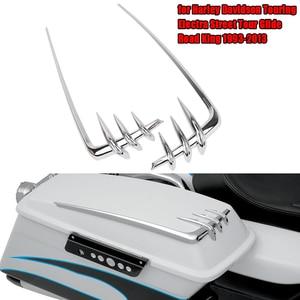 Image 1 - Accents de couvercle de selle de moto pour Harley Davidson, Touring Electra Street Tour slide Road King, housse doutil chromée, 1993 2013