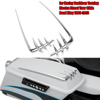 Motorcycle Saddlebag Lid Accents For Harley Davidson Touring Electra Street Tour Glide Road King 1993 2013 Chrome Tool Cover