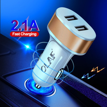 OLAF LED Car USB Charger For iPhone Samsung Xiaomi Mobile