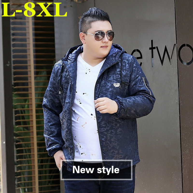 New  Winter  Plus  Size  8XL 7XL  Men Winter Jacket Warm Male Coats Fashion Thick Thermal Men Parkas Casual Men Branded Clothing