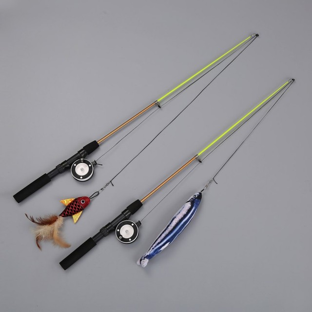 Retractable Fishing Rod Cat Toy 1