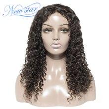 Новая звезда глубокая волна 4x4 синтетическое закрытие парик бразильские виргинские человеческие волосы парики пучки и закрытия индивидуальные бесклеевой парик на сеточке