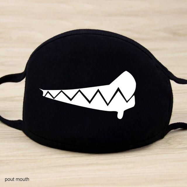 Cotton Anti Dust Mask Cartoon Expression Teeth Muffle Face Respirator Anti Kpop Bear Mouth Mask