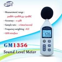 BENETECH 30-130dB GM1356 Medidor de Nível de Som Digital LCD A/C FAST/SLOW tela dB USB + Software com caixa de transporte