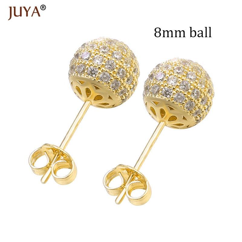 8mm ball gold