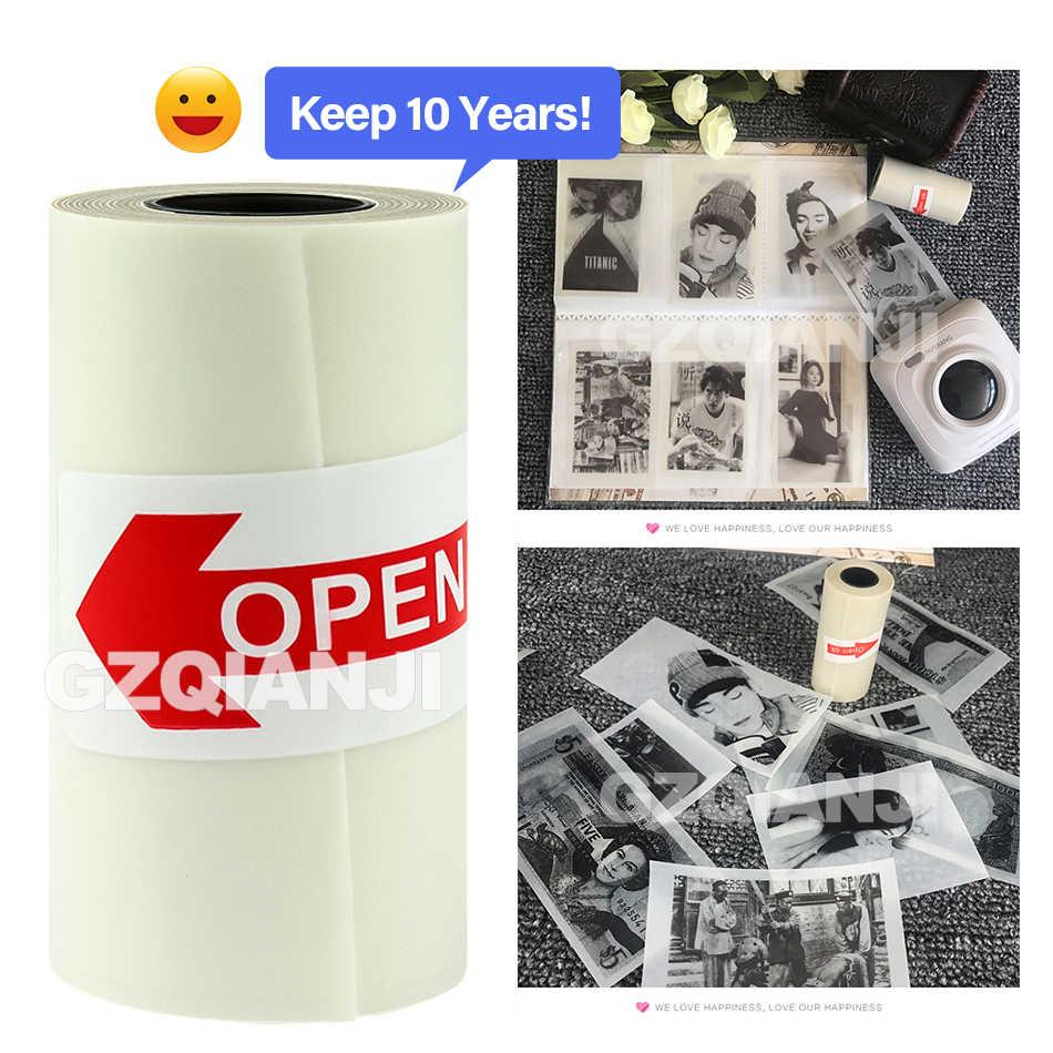 57X30 Mm Peka Panas Kertas Thermal Foto Menerima Kertas Kertas Stiker untuk GZM5804 Peripage Foto Printer (hanya Mencatat Kertas/Case)