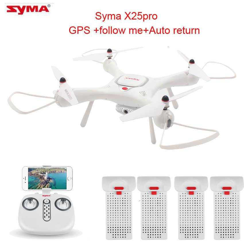 Syma X25pro gps dron wifi fpv 720 で 1080p hd カメラやリアルタイムの fpv カメラドローン 6 軸高度ホールド rc quadcopter rtf
