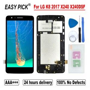 Image 1 - LG K8 2017 X240 X240H X240DSF X240K X240I PP2 LCD 디스플레이 터치 스크린 디지타이저 어셈블리 K8 Novo 2017 듀얼 X240DS LCD