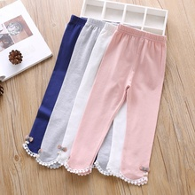 1-6T Baby Girl Pants Lovely Toddler Children Spring Autumn Casual Princess Soft Cotton Sweet Leggings Girls Bow #m
