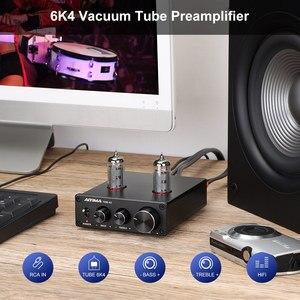 Image 5 - AIYIMA 6K4 튜브 앰프 담즙 프리 앰프 HIFI 프리 앰프 고음 저음 조정 오디오 프리 앰프 DC12V 앰프 스피커 용
