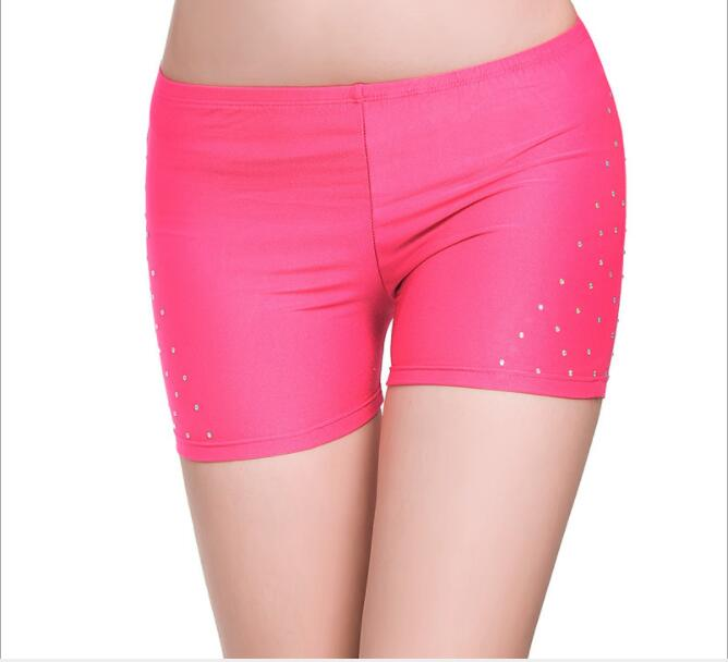 Sexy Hot Rhinestones Soft Shorts Women  Belly Dance Safety Short Pants Underwear Night Club Party Evening Bellydance Performanc