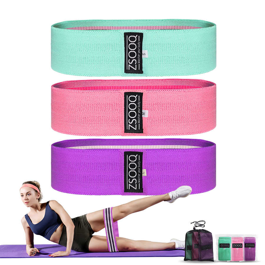 Stof Weerstand Hip Band Krachttraining Body Glute Bands Elastische Fitness Expander Booty Bands Workout Oefening Apparatuur