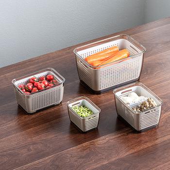 Pojemnik do przechowywania w kuchni pojemnik do przechowywania świeżych pojemników plastikowe owoce pojemniki do przechowywania warzyw pojemniki do przechowywania w kuchni zamknięte pojemniki tanie i dobre opinie Milyydom CN (pochodzenie) HBFF0523 Z tworzywa sztucznego PET+PP+TPR Ekologiczne Na stanie Skrzynki i pojemniki 100 kg 21-40 sztuk cukierków