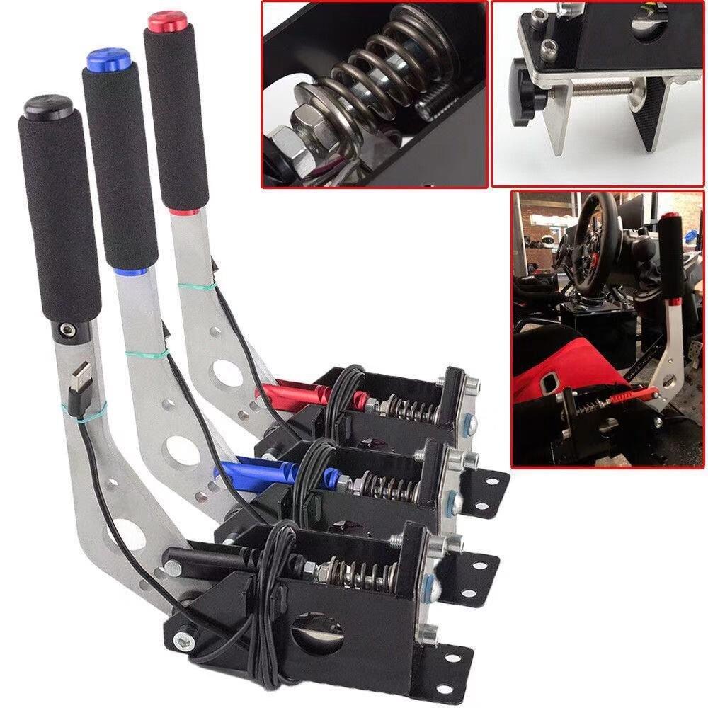 1Pcs SIM USB Handbrake Clamp For Racing Games G25/27/29 T500 FANATECOSW Dirt Really SIM Rallye Auto Replacement Parts Handbrake