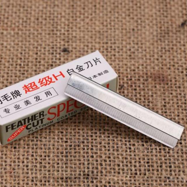 10pcs/Set Portable Eyebrow Trimmer Blade Makeup Safe Sharp Threading Stainless Steel Knife Women Beauty Tools Kit