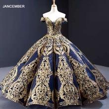 J67026 Jancember Celebrity Dresses 2021 Sweetheart Evening Ball Gown 쇼트 레이스 업 반소매
