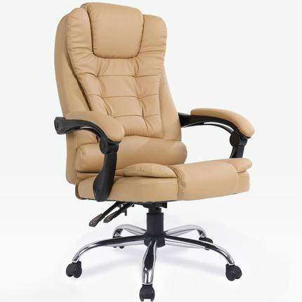 Boss Chair Office Chair Backrest Computer Chair Reclining Leather Comfortable Business Lift Desk Room Seat Swivel Chair Home