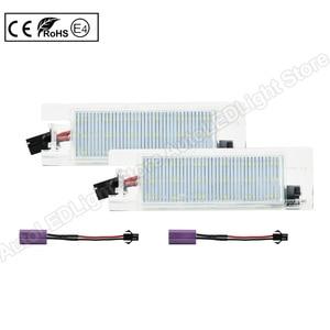 Image 2 - 2Pcs LEDจำนวนใบอนุญาตLight PlateสำหรับFiat Multipla Croma Grande Punto Tipo Punto Seicento Doblo Marea Linea Brava alfa Romeo