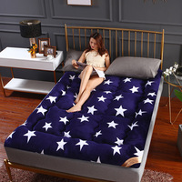 Stars Thicken Flannel Mattresses warm Lamb cashmere Tatami Single double King Mattress Stripes Floor Mat Folding Mats For Family