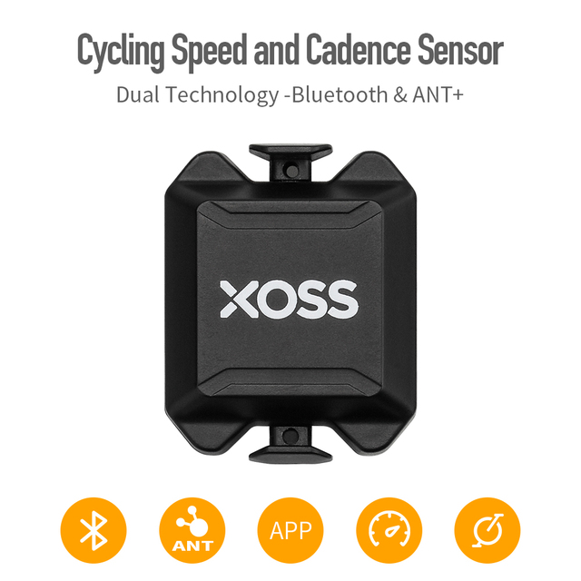 XOSS Cycling Computer Speedometer Speed and Cadence Dual Sensor ANT+ Bluetooth Road Bike MTB Sensor for GARMIN iGPSPORT bryton