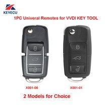 Xhorse 1pc x001 série cor preta universal remoto chave fob 3 botão para vvdi chave ferramenta