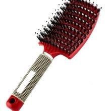 Detangle Hairbrush Massage Hairdressing-Tools Wet-Comb Professional Women