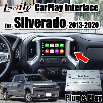Lsailt carplay& Android auto video interface with youtue , wifi ,video input for 2014-2020 Chevrolet Malibu Camaro  Silverado