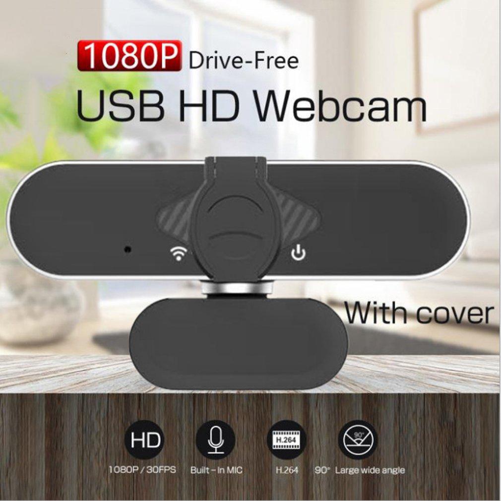 Câmera de computador de alta definição com microfone usb drive-livre plug and play câmera de chamada de vídeo-2