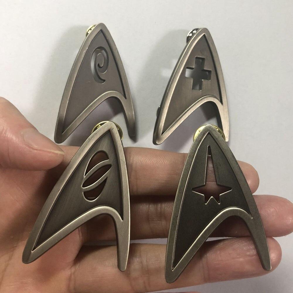 Star Trek Cosplay ingeniería Broche Insignia De Metal Plateado Halloween Fiesta Regalo