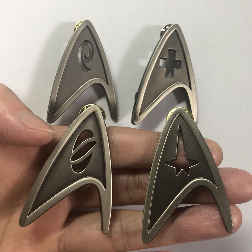 Star Cosplay Trek Command Division Badge Starfleet Pins Science Engineering Medical Metal Brooch Accessories Costume Props
