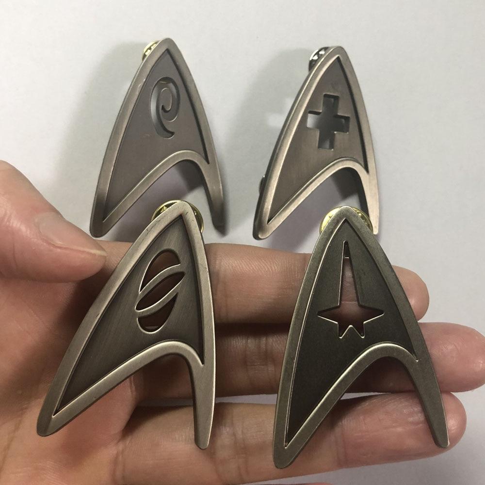 Star Cosplay Trek Command Division Badge Starfleet Pins Science Engineering Medical Metal Brooch Accessories Costume Props