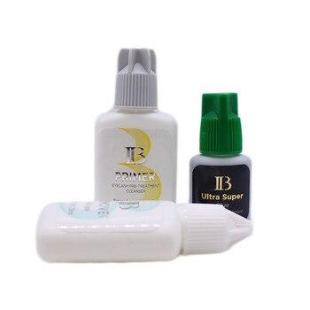 3 Bottles Origianl Korea IB Glue Ultra Super Glue Lash Primer Lash Remover Set For Eyelash Extension Fastest Atrongest Wholesale 2