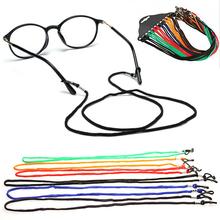 5 czarny Nylon okulary pasek na szyję pasek okulary okulary smycz sznurek uchwyt do czytania okulary podróżne okulary okulary tanie tanio Unisex Poliester 66cm Stałe