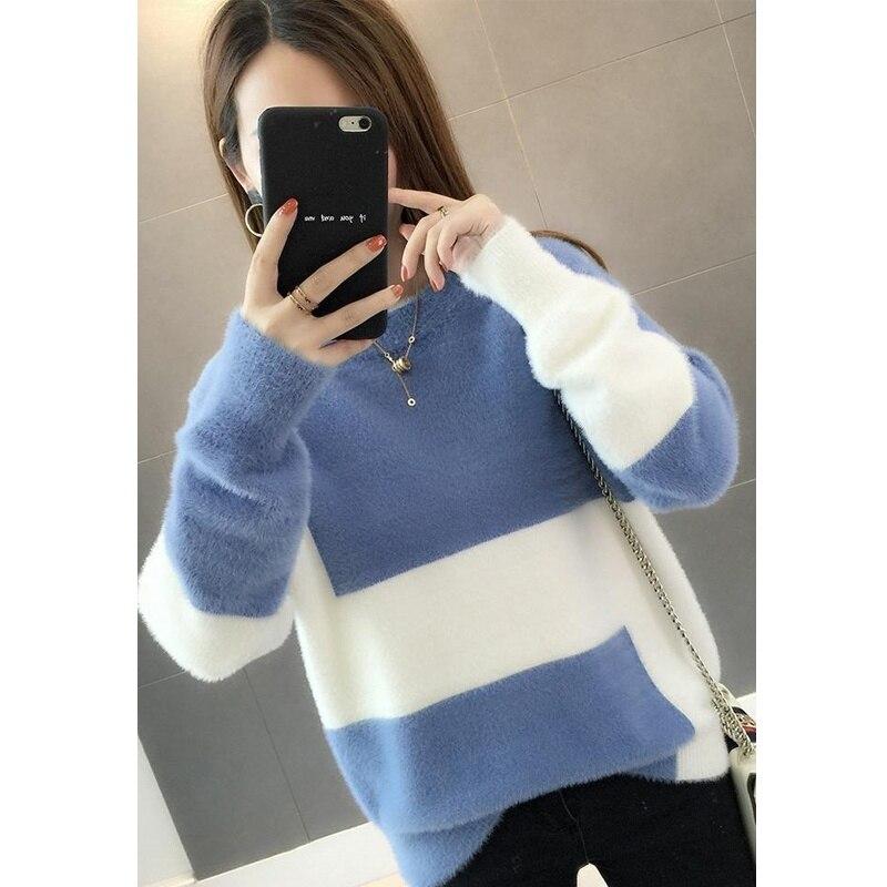 Christmas Sweater Women Winter 2019 Fashion Pullover Velvet Sweater Women's Long Sleeve Sweaters