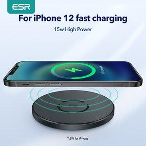Image 1 - ESR Wireless Charger สำหรับ iPhone 12 /12 Pro/12 Pro Max/12 Mini 15W PD Fast ไร้สายชาร์จ Pad สำหรับ Airpods Pro Samsung Huawei