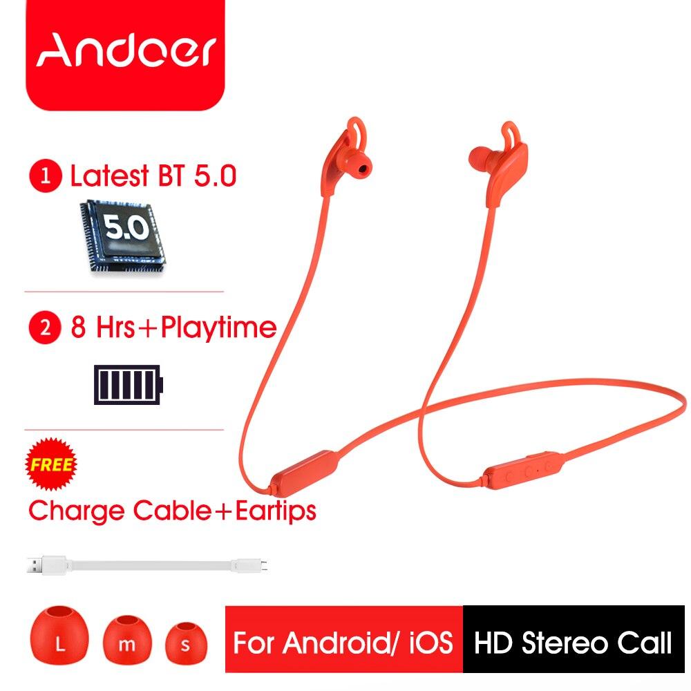 Andoer D1 Wireless Headphones Bluetooth Earphones Wireless Sport Headset HD Stereo Earbuds for iPhone Huawei Samsung Meizu(China)