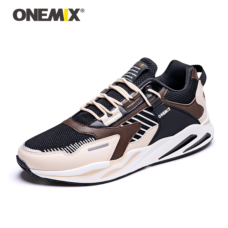 ONEMIX New Men Retro Running Shoes Lightweight Trail Vintage Trainer Outdoor Chaussures Hommes Classic Jogging Casual Sneakers