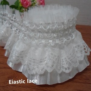 8cm width double elastic lace lace new accessories handicraft embroidery lace DIY sewing skirt clothing accessories home decorat